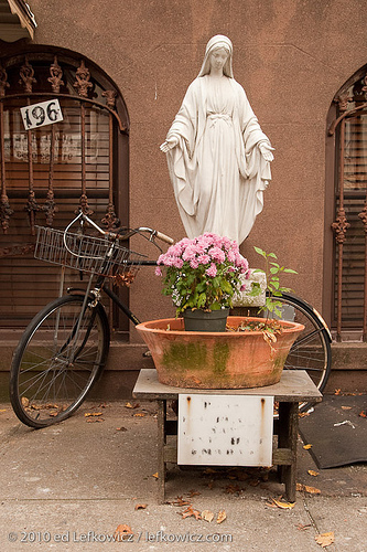 Statue of the Virgin Mary, Carroll Gardens Brooklyn