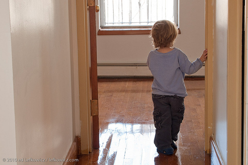 Realtor's son in an apartment