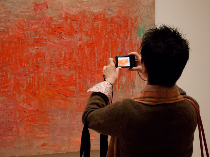 Photographing a painting
