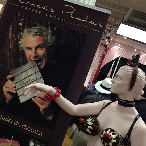 At the chocolate show