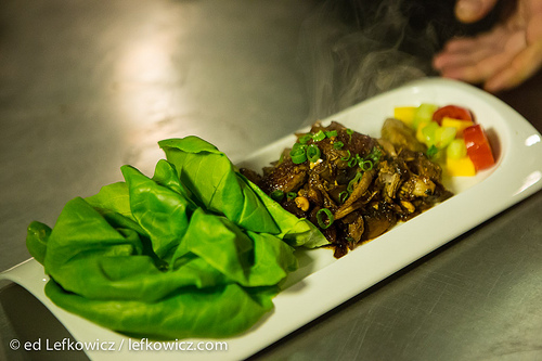 Lettuce wraps with turkey at Xixa