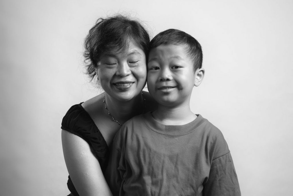 Mother and son for Flashes of Hope
