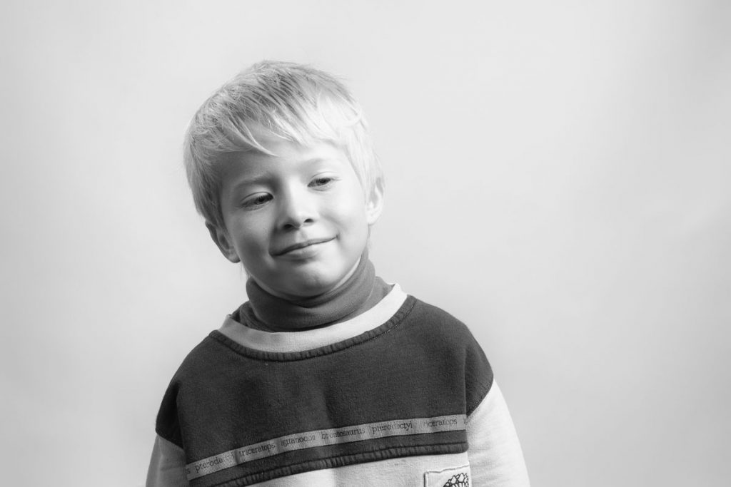 Portrait of a boy for Flashes of Hope