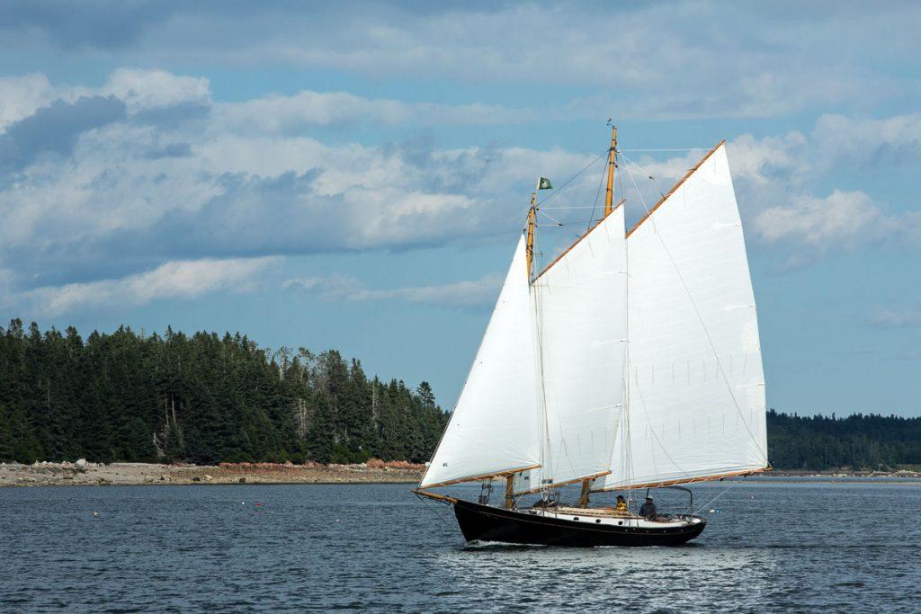Schooner sailing off Torrey Island, Eggemoggin Reach