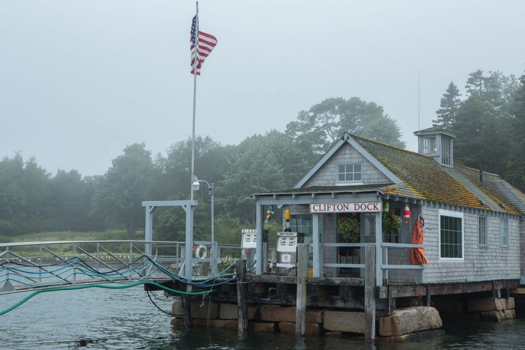 Clifotn Dock, near the entrance to Northeast Harbor, Maine