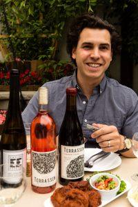 Nomad wine director Thomas Pastuszcak, photographed for Edible Queens magazine.