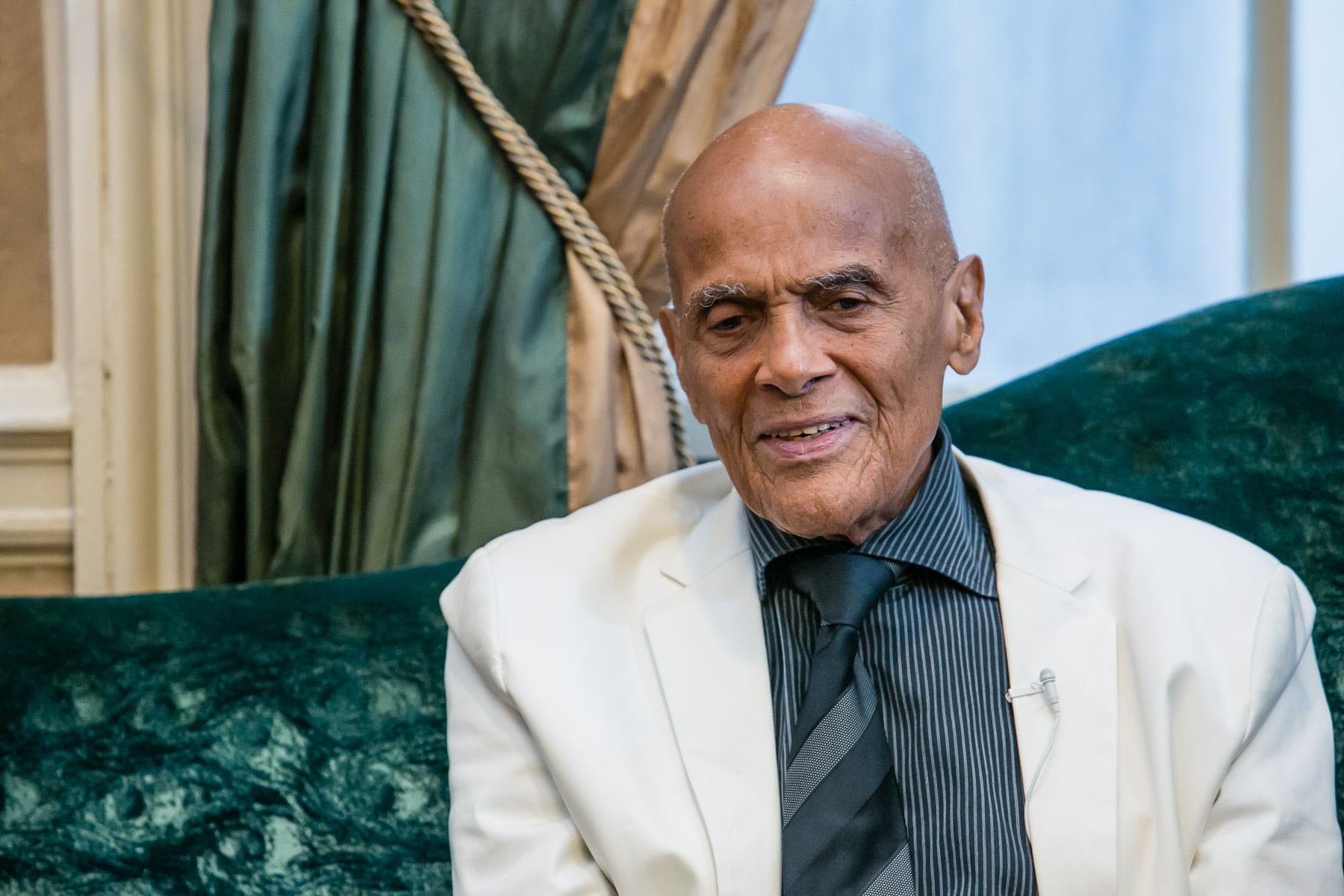 Harry Belafonte in the green room, photographed for the Toigo Foundation.