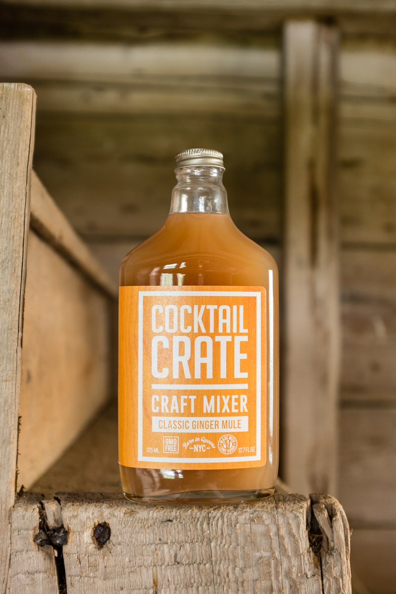 Cocktail Crate Ginger Mule mixer at a beach picnic in Rhode Island. Photographed for Edible Queens magazine.
