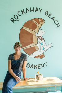 Tracy Obolsky at her Rockaway Beach Bakery. Shot for Edible Queens magazine.