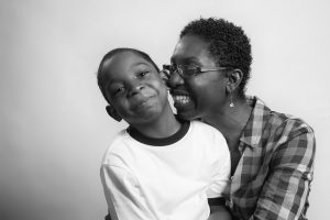 Mother and son, photographed for Flashes of Hope.