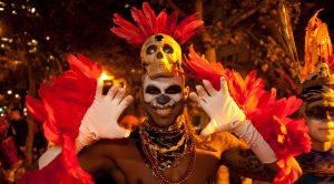 Death's head inNew York's Greenwich Village Halloween Parade