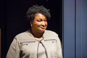 Stacey Abrams, photographed behind the scenes for the Toigo Foundation.