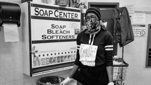Brooklyn laundromat attendant warns patrons to keep away