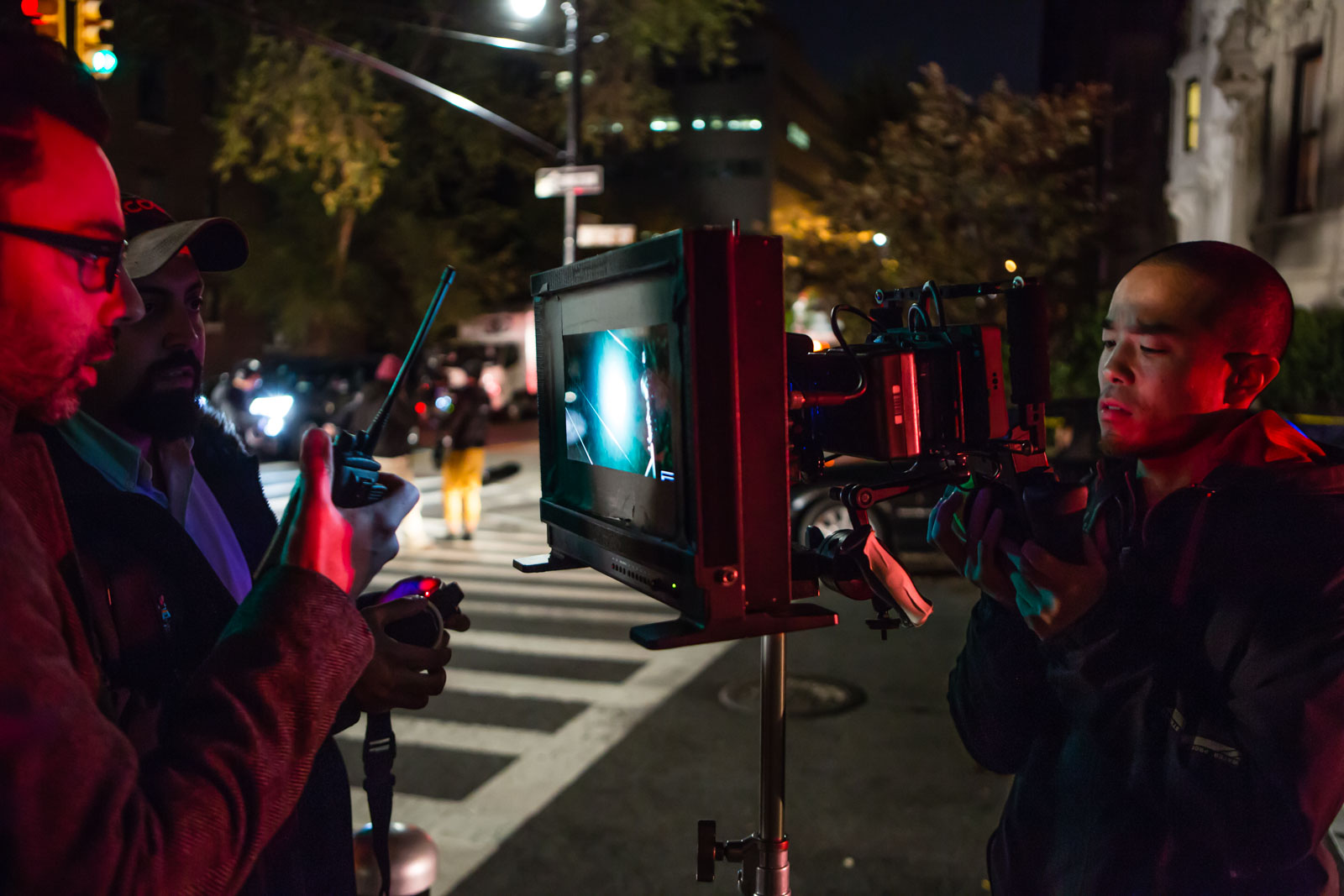 "Director Nathan Catucci, behind-the-scenes of the filming of the feature ""Impossible Monsters"""